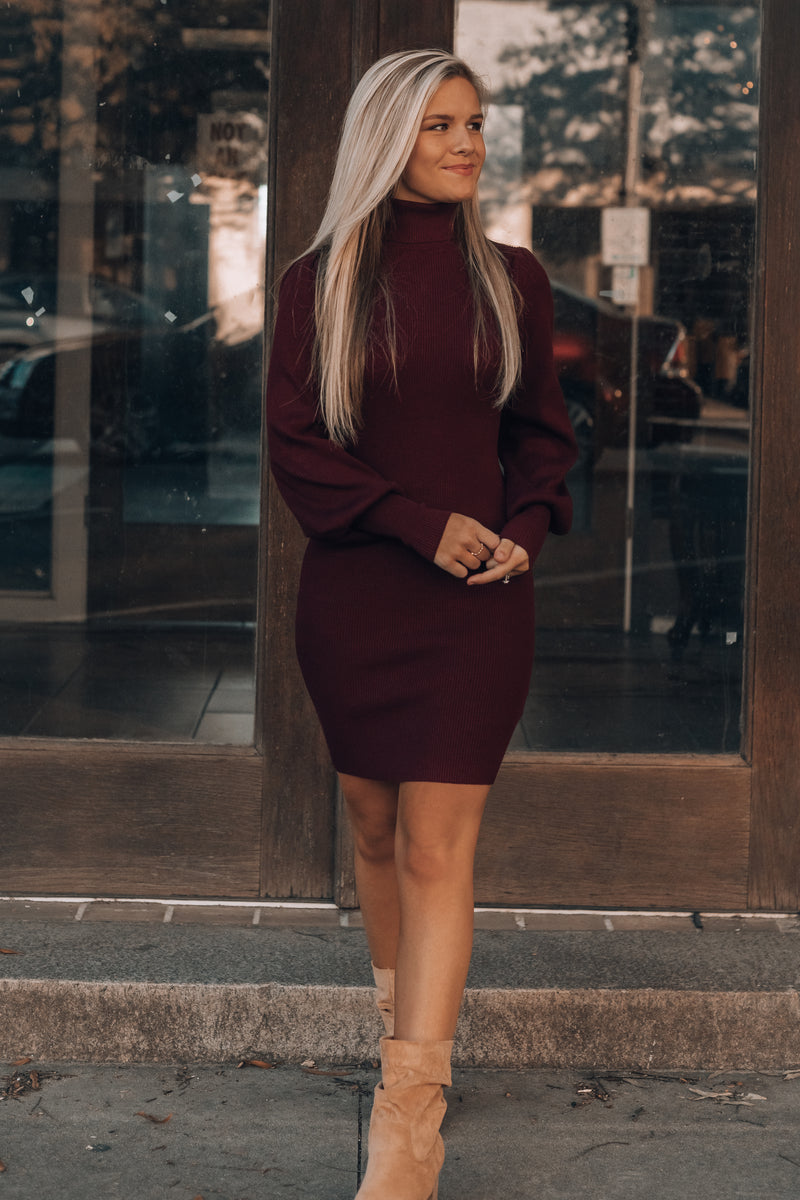 Harbour Sweater Dress (Wine)