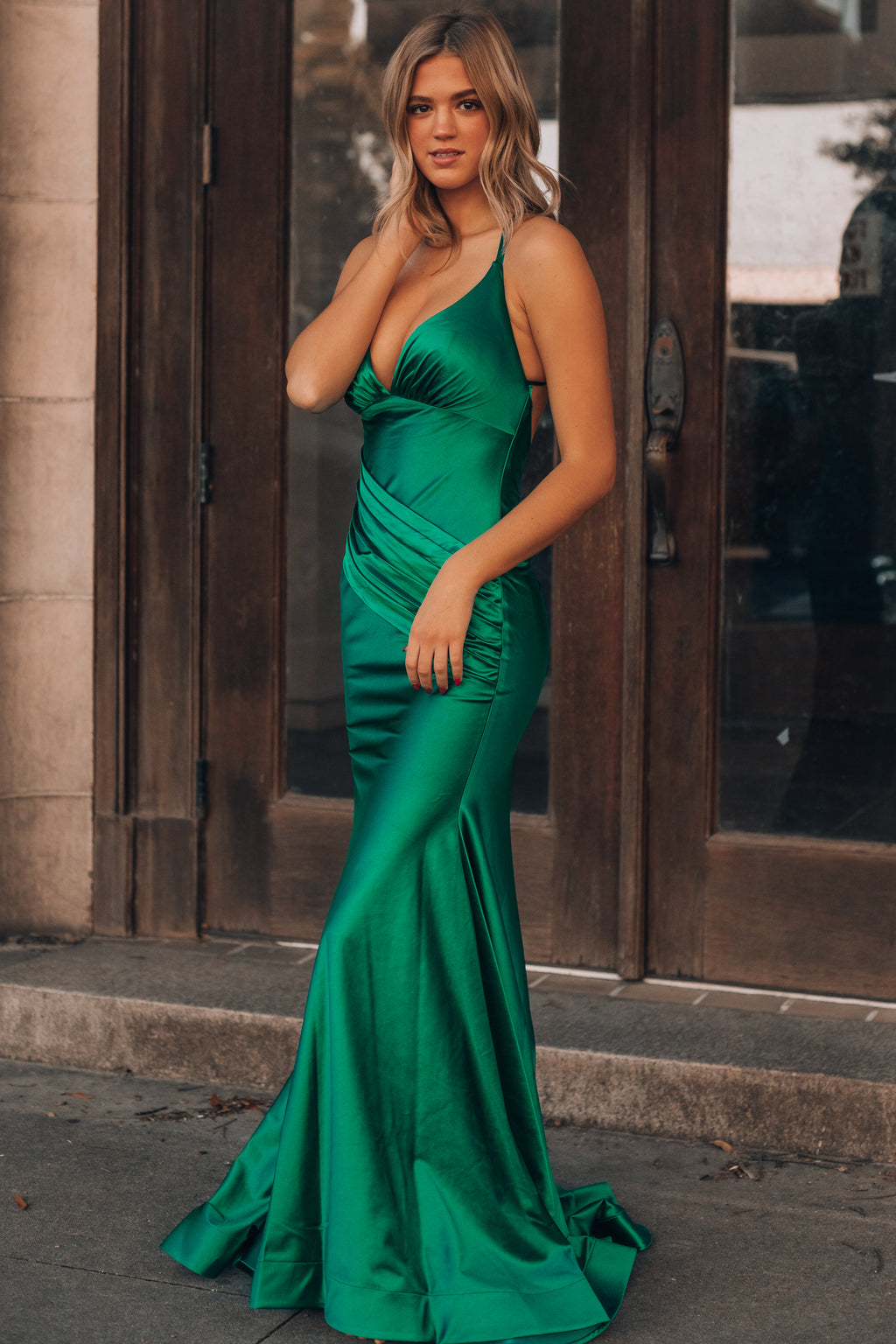 Edge Of Romance Gown (Emerald)