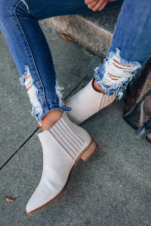 Lennon Ankle Booties (Ice)