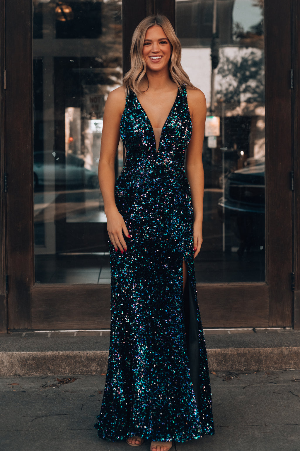 A Place In My Heart Sequin Gown
