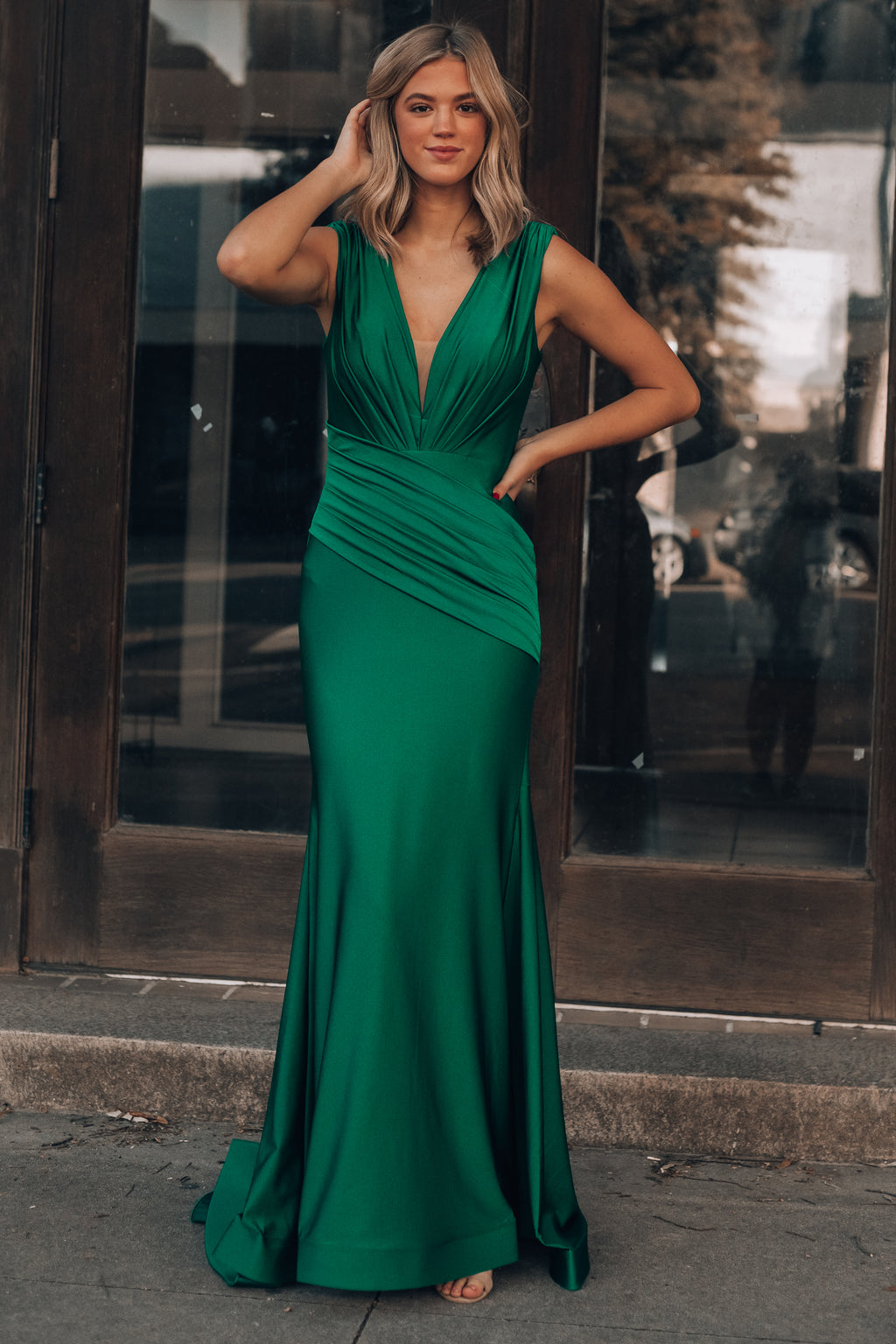 Alessandra Maxi Gown (Emerald)