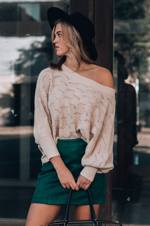 Feelin' Cute Knit Sweater (Cream)