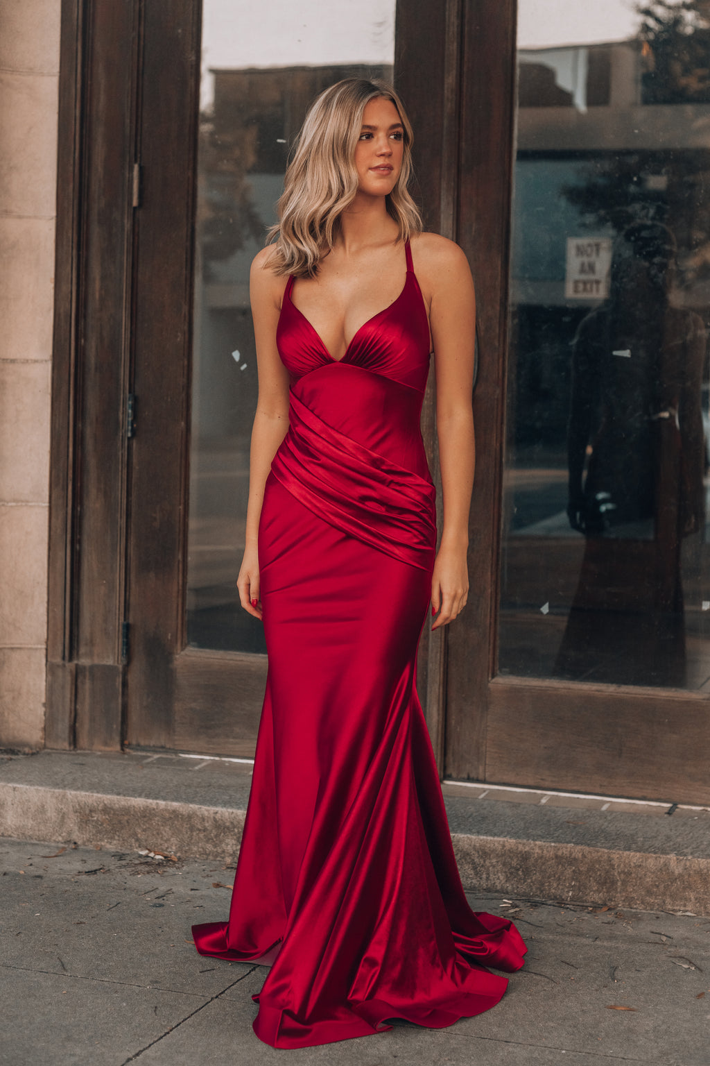 Edge Of Romance Gown (Red)