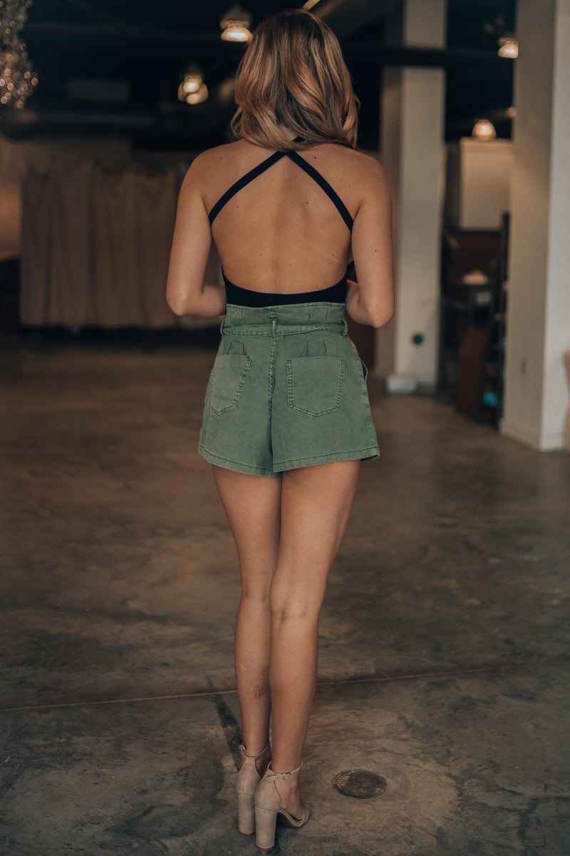 Cassidy X Back Bodysuit (Black) - FINAL SALE