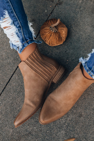 Lennon Ankle Booties (Taupe)