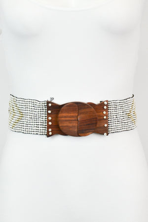 Omaha Beaded Belt (Ivory)