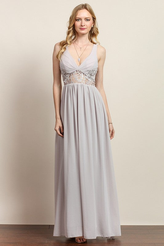 Heaven On Earth Lace Gown - FINAL SALE
