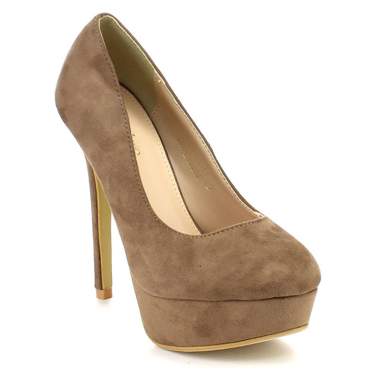 Taupe Classic Pumps - FINAL SALE