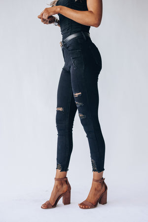 After Hours Distressed Jeans (Black)