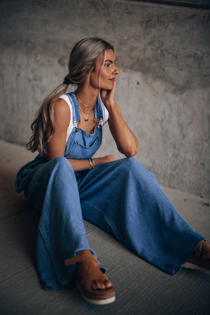 Good Day Wide Leg Overalls PRE-ORDER Ships Mid May