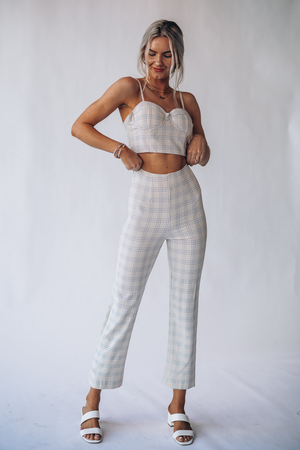 Finn Plaid Crop Top