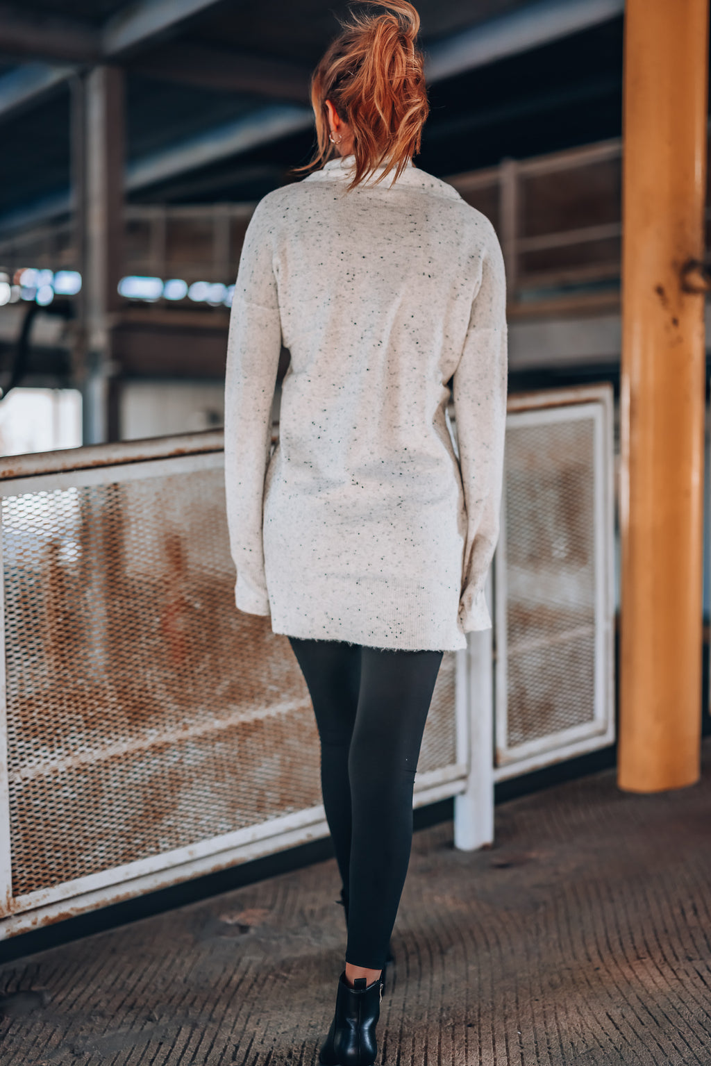 Matcha Cowl Neck Sweater Dress
