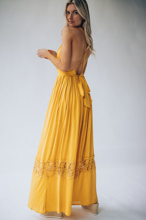 At First Glance Maxi Dress (Honey)