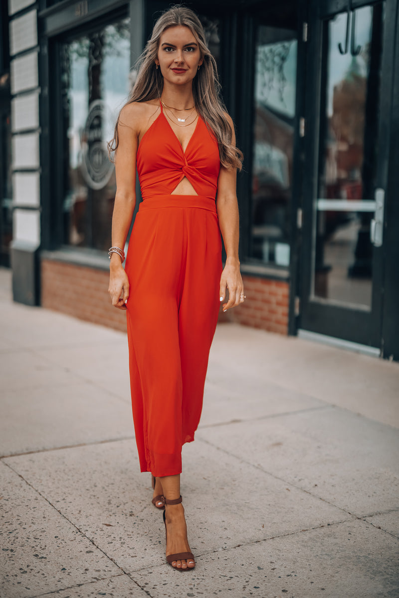 Eventful Jumpsuit (Red)