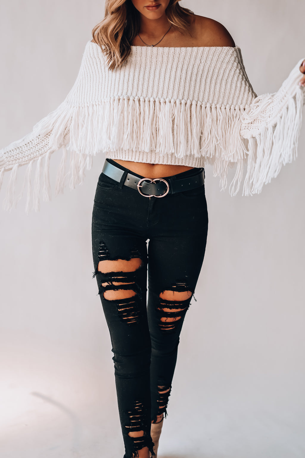 On The Fringe Sweater (Off White)