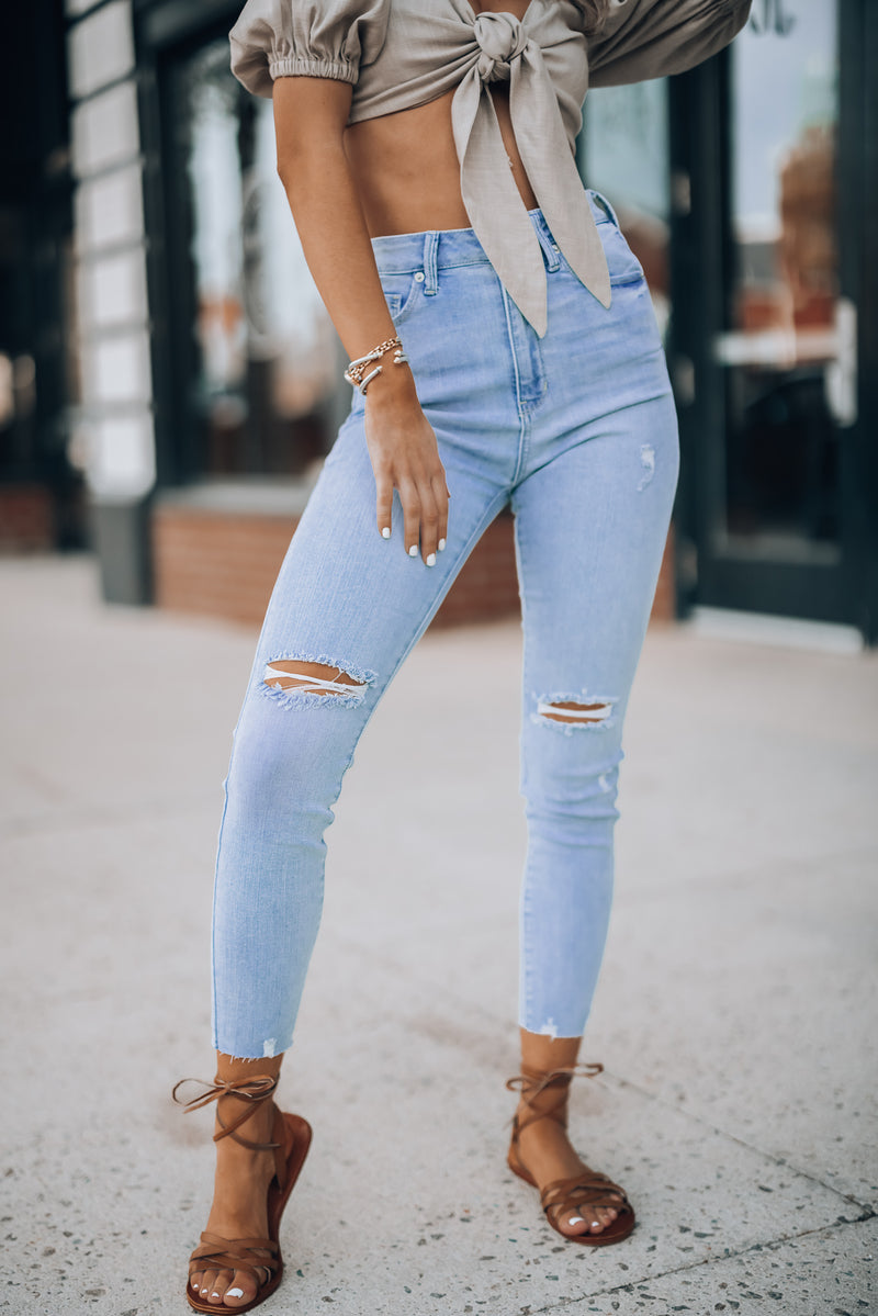 Easy Going Distressed Jeans