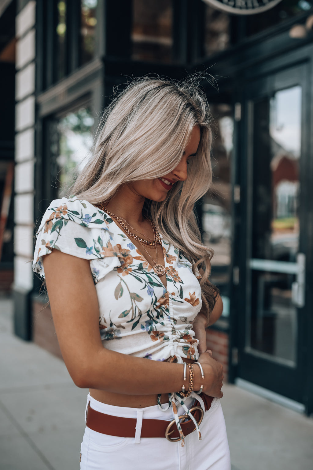 Moonshine Floral Blouse