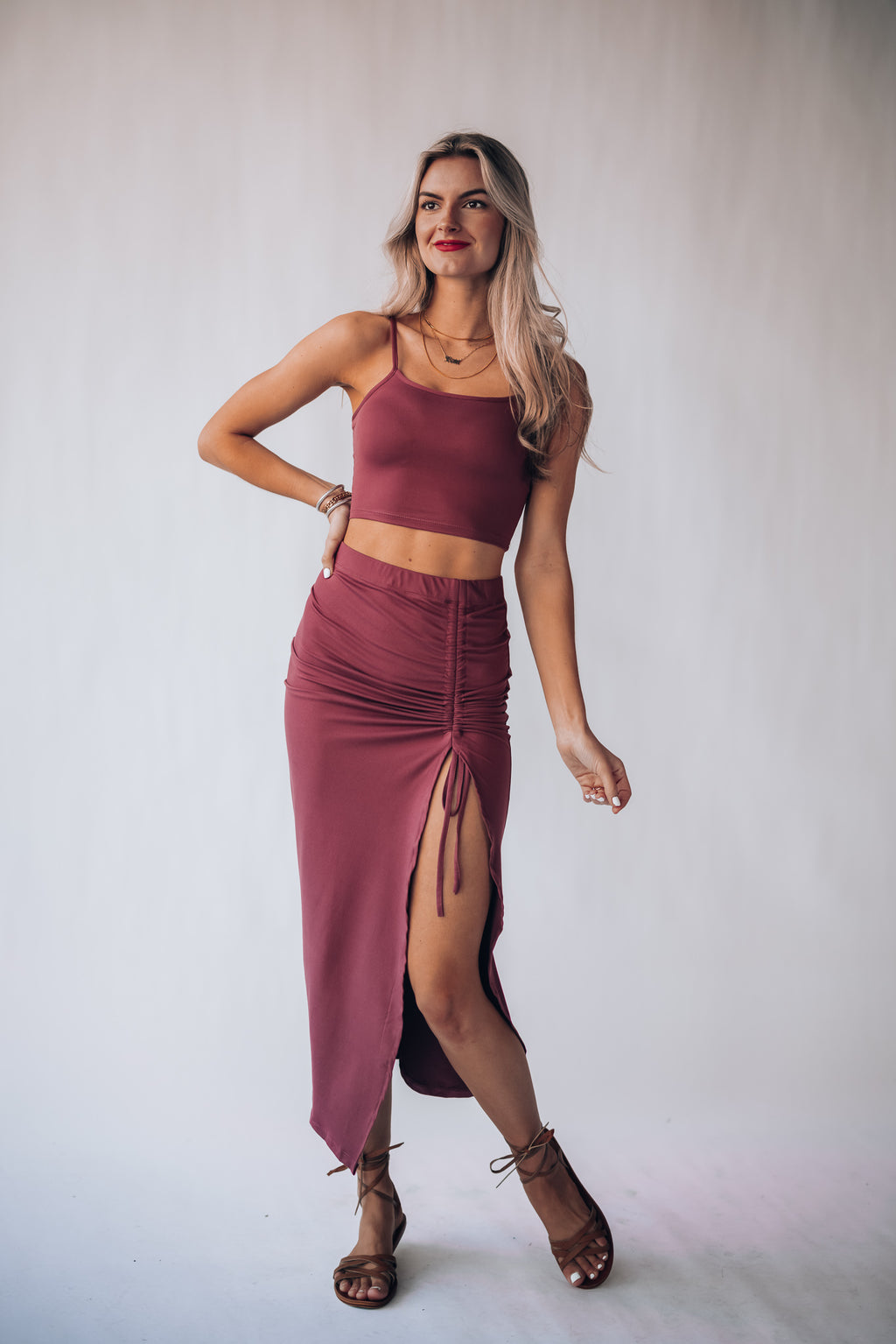 Electric Love Skirt Set (Rose)