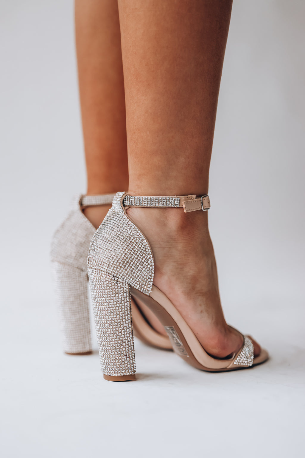 Shine On Rhinestone Heels