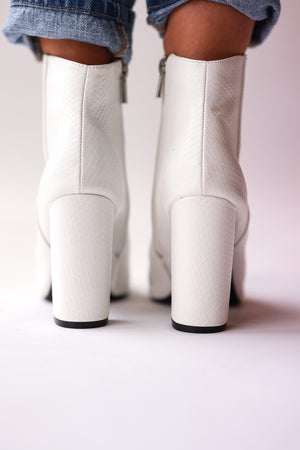 Signal Snake Booties (White)