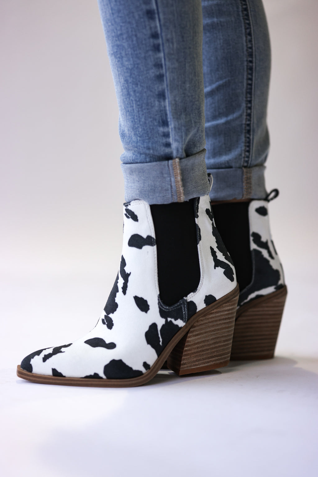 Walk This Way Booties (Cow)