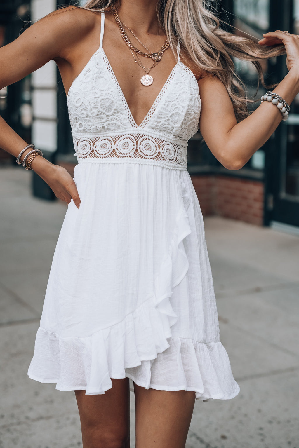 Slow Dance Mini Dress (Ivory)