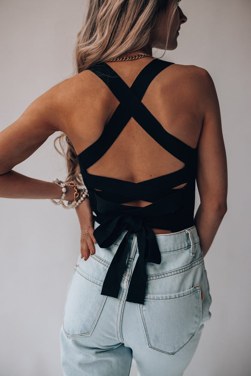 Heartbreaker Knit Crop Top (Black) PRE-ORDER Ships Early July