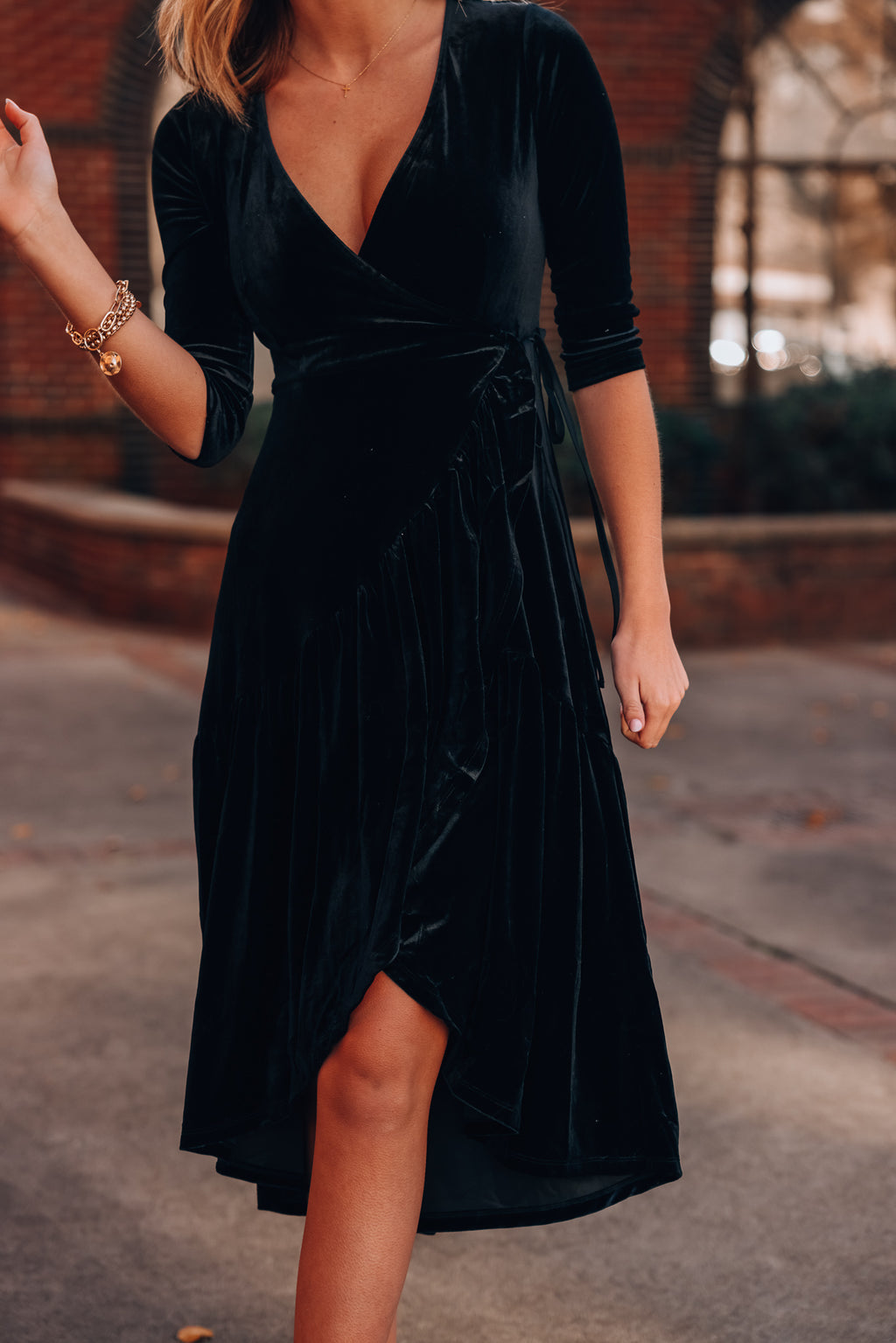 Eve Velvet Wrap Dress