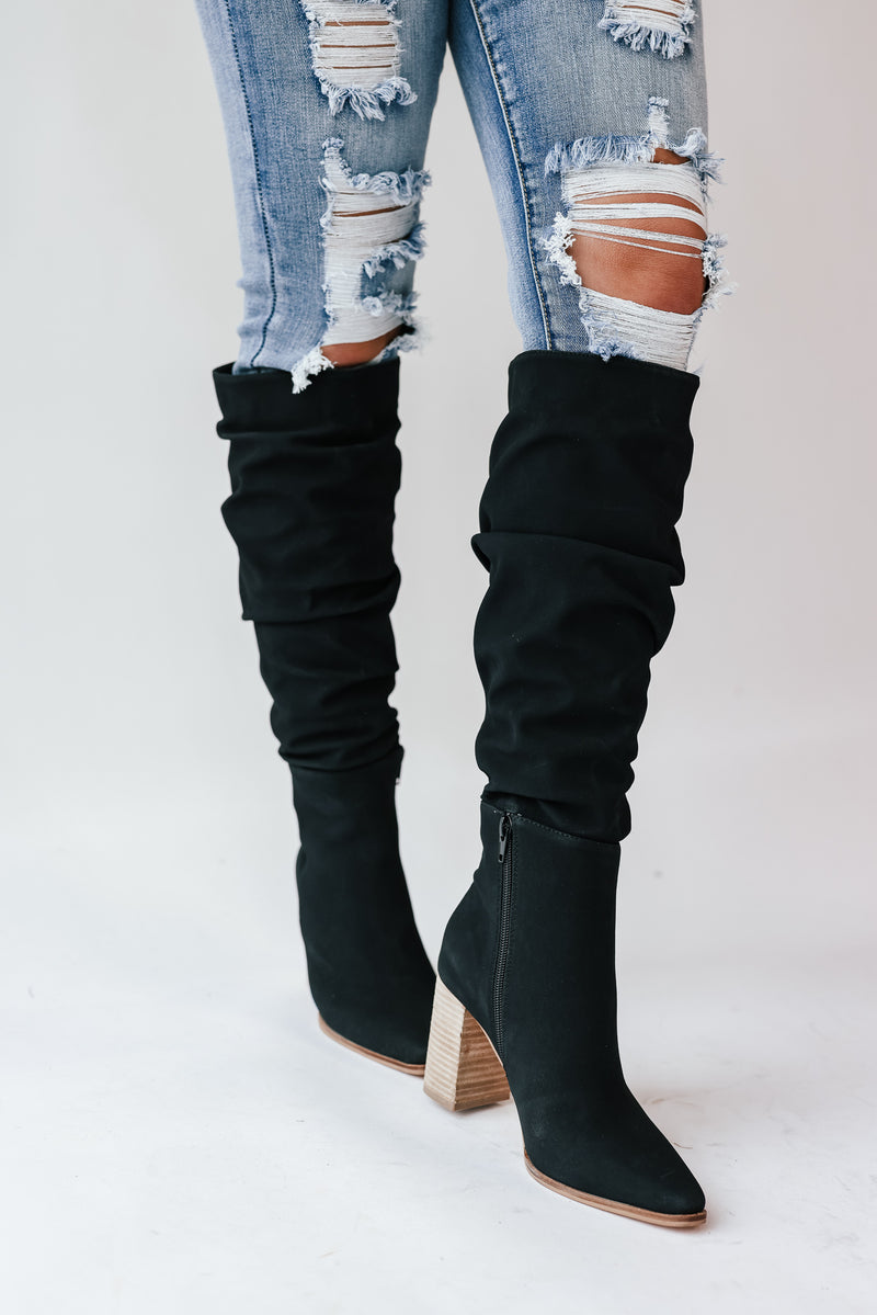Dolce Slouch Boots (Black)