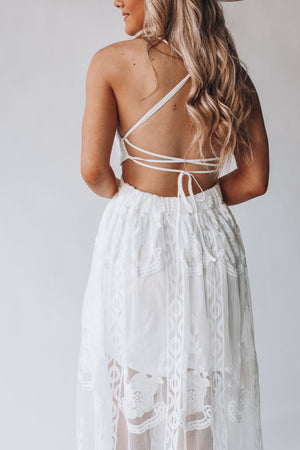Bali Lace Maxi Dress (Ivory)