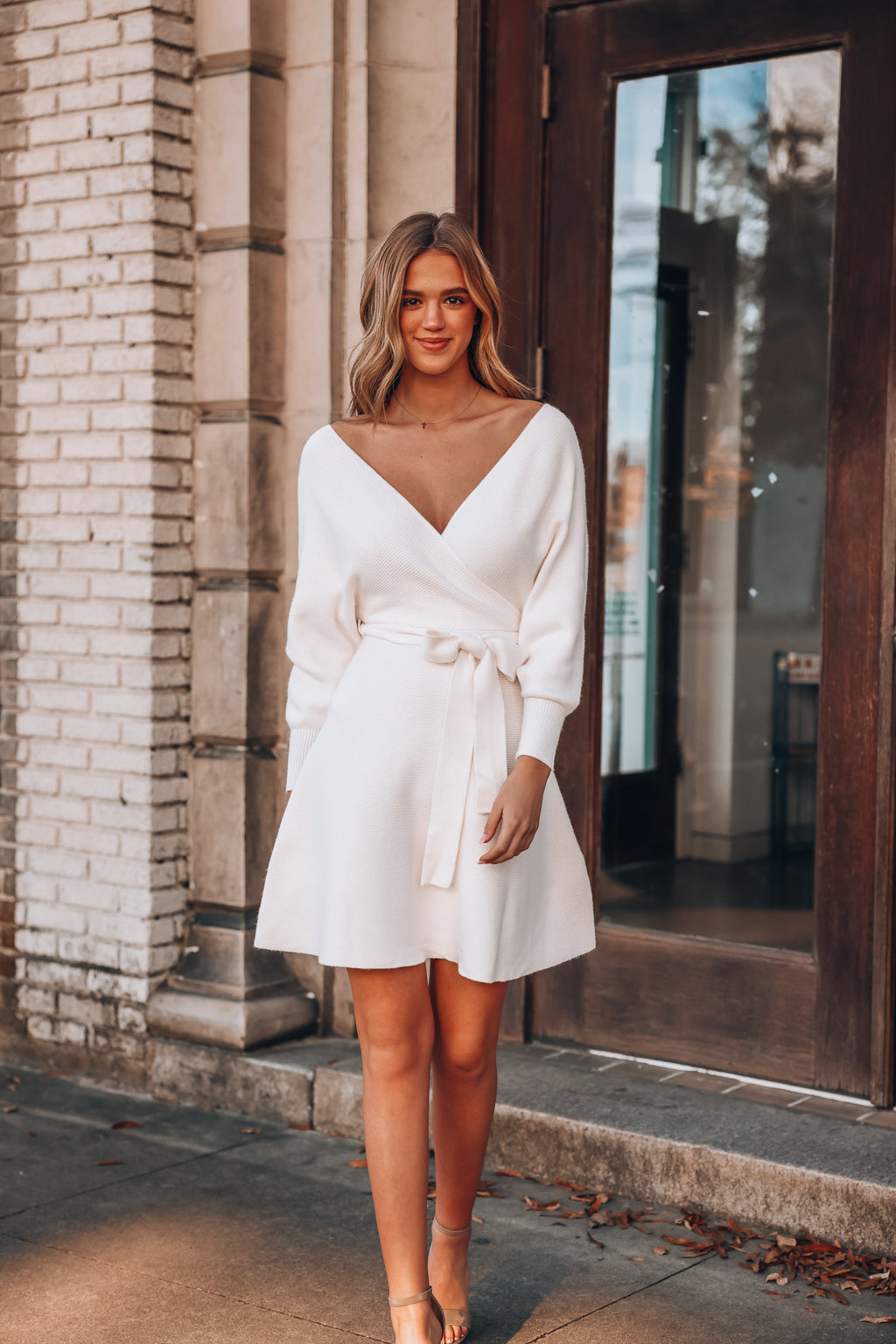 Carson Sweater Dress (Ivory)