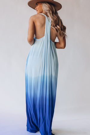 Dreamer Ombre Maxi Dress (Blue)