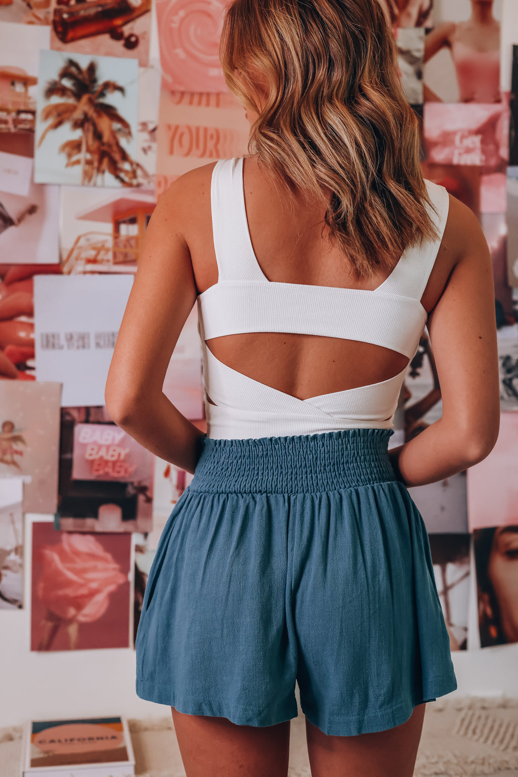 Rebel Ribbed Crop Top (Off White)