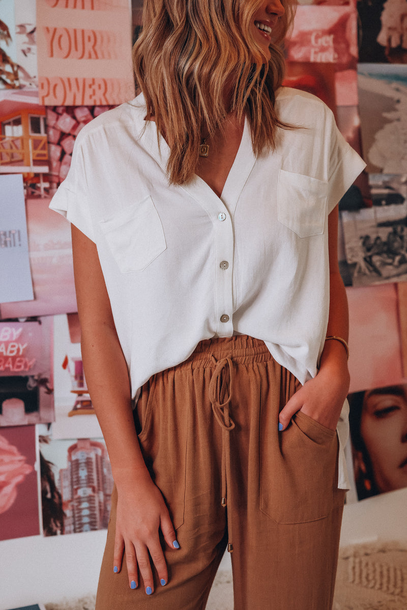 Boheme Button Up Top (Ivory)