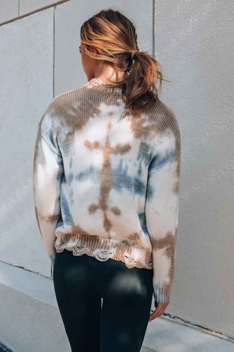 Washed Away Tie Dye Sweater
