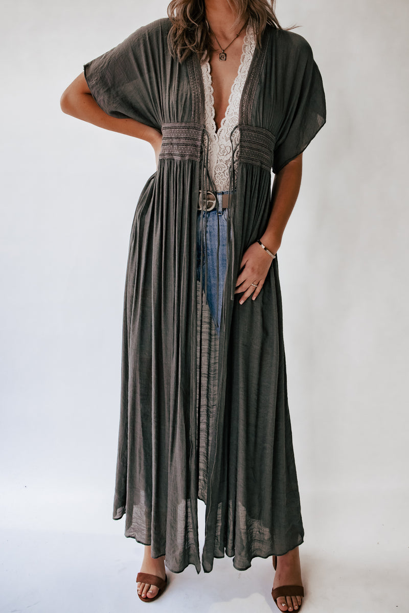 Wanderer Duster (Charcoal)
