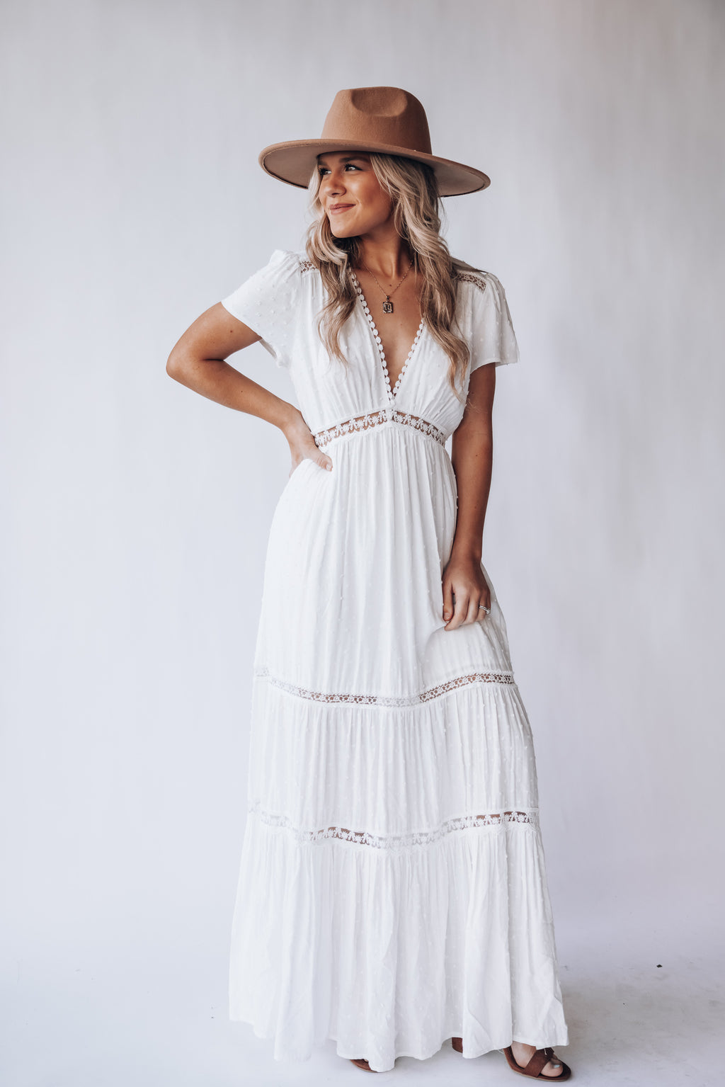 Sweetest Day Swiss Dot Maxi Dress