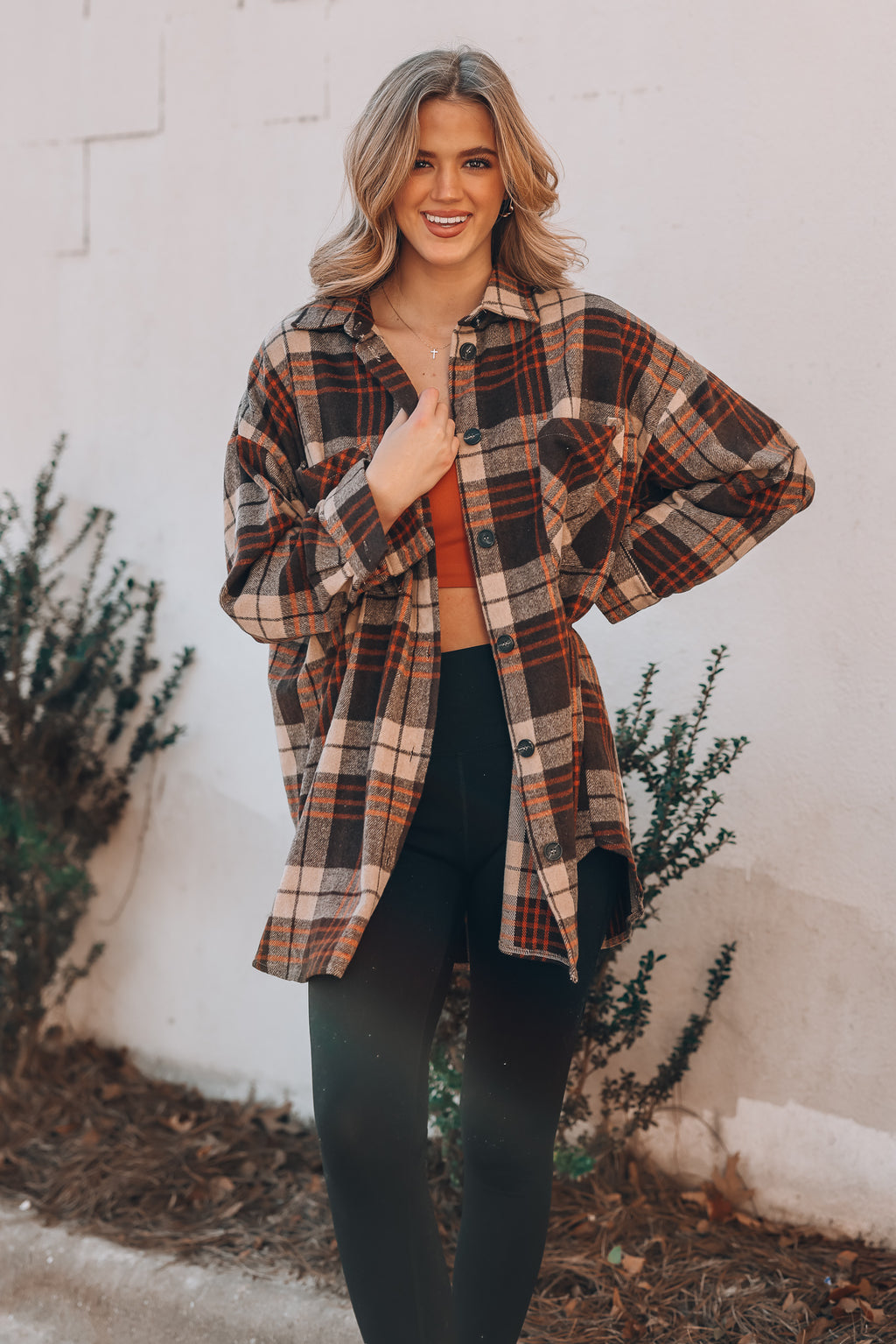 Light It Up Plaid Shacket