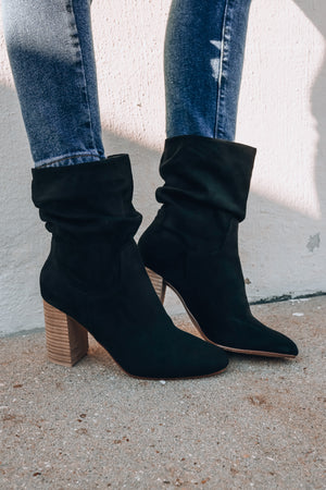 Diego Slouch Booties (Black)
