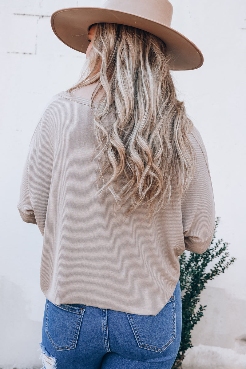 Easy Rider Crop Top (Taupe)