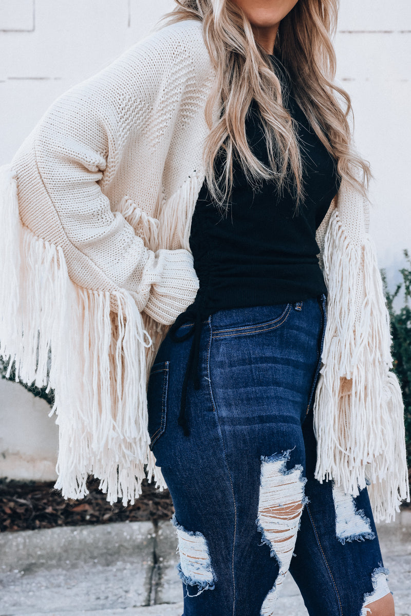 Lennox Fringe Cardigan PRE-ORDER Ships Early April