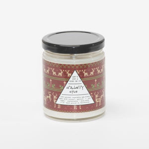 Cranberry Spice Color Wrapped Candle