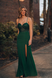 Stone Fox Gown (Emerald)