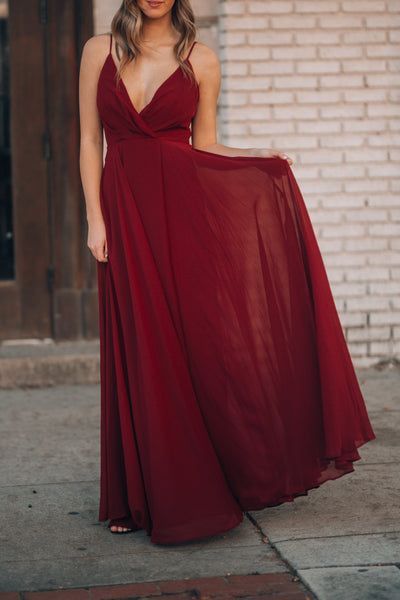 Wandering Hearts Gown (Wine)