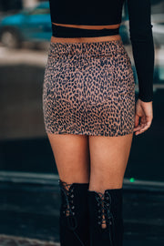 Wild Side Leopard Skirt - FINAL SALE