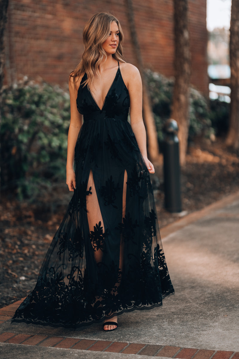 All My Love Maxi Gown (Black)