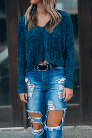 Hearts Run Wild Sweater (Teal)