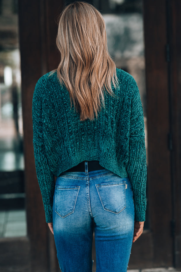 Hearts Run Wild Sweater (Hunter Green)
