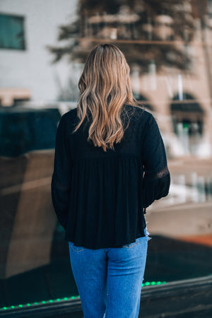 Full Moon Blouse (Black) - FINAL SALE