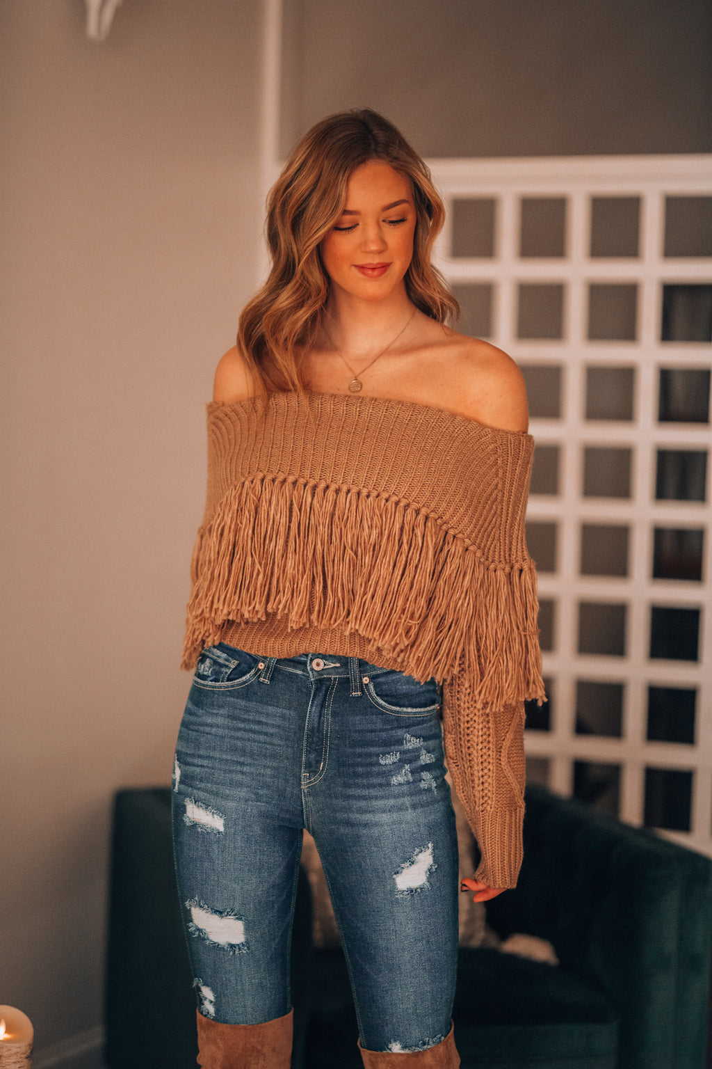 On The Fringe Sweater (Mocha) - FINAL SALE
